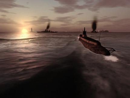 Anmerkung PC Games: Bild von SIlent Hunter 4: Wolves of the Pacific.