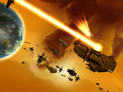 Screenshots aus Sins of a Solar Empire.