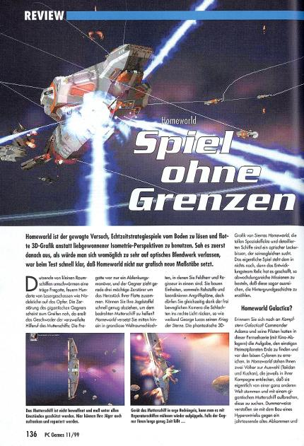 Homeworld im Klassik-Test