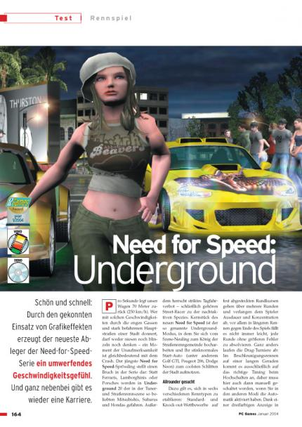 Need for Speed: Underground im Klassik-Test
