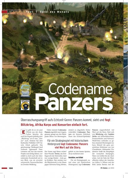 Codename: Panzers - Phase One im Klassik-Test