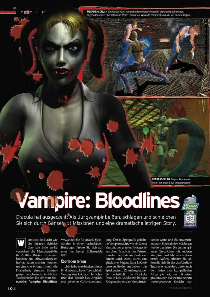 Vampire: The Masquerade - Bloodlines im Klassik-Test