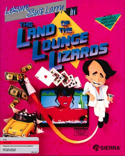 Leisure Suit Larry in the Land of the Lounge Lizards erschien 1987 und wurde 1991 neu aufgelegt.