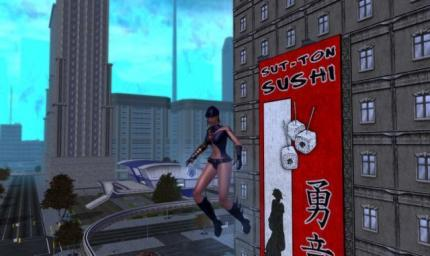 Ingame-Werbung in City of Heroes.