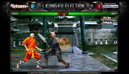 Flashspiel des Tages: Beat'em-Up Kung Fu Election