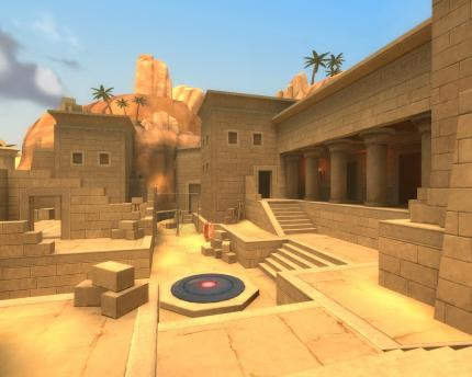 Team Fortress 2: Screenshot der Karte 'CP_Egypt'.