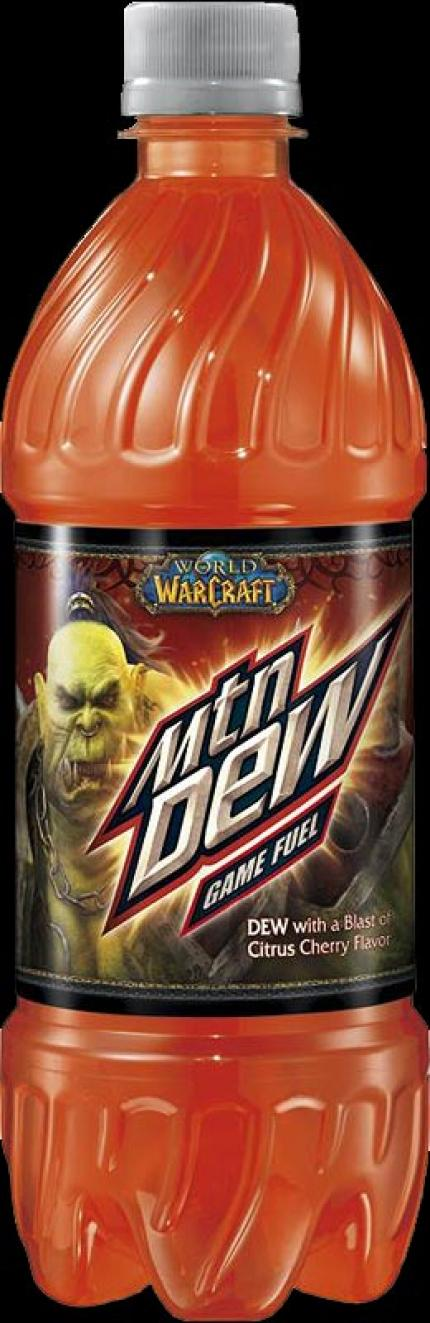Mountain Dew in Horde Red.
