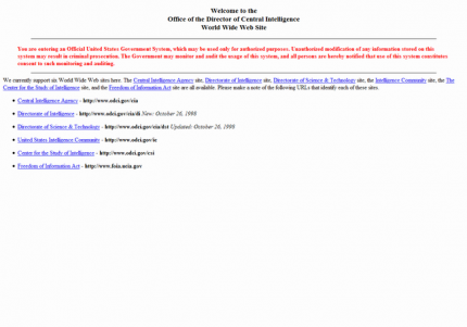 Die CIA-Website anno 1998.