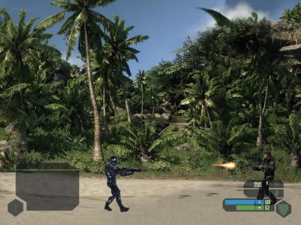 Screenshots aus dem Arcade-Shooter Crysis-2D.