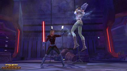 Der Sith-Krieger in Aktion: Screenshot aus  Star Wars: The Old Republic.