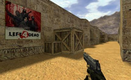InGame-Werbung in Counter-Strike.