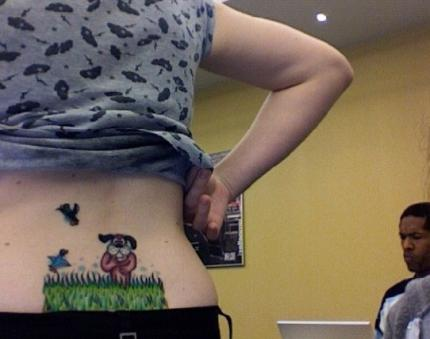 Gaming-Tattoos: Na? Kennt's noch jemand. Duck Hunting.