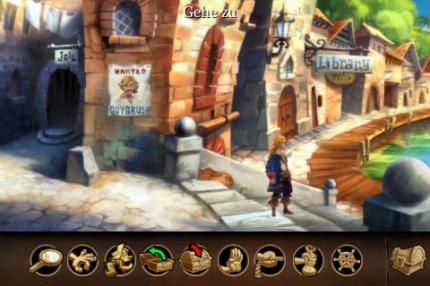 Gelungene Umsetzung: die iPhone-Version des Adventure-Klassikers The Secret of Monkey Island.