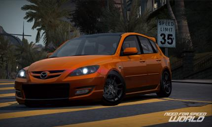 Der PC-Games-Code schaltet den Mazdaspeed 3 in Need for Speed World frei.