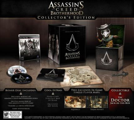 Die Collector's Editionen zu Assassin's Creed: Brotherhood - Hier die PS3-Version.