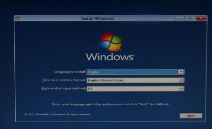 Installationsbildschirm der Preview von Windows 8.
