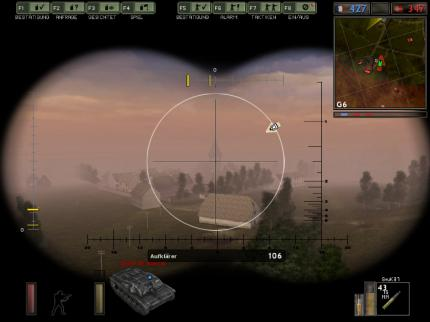 Artillerie-Mechanik von Battlefield 1942.