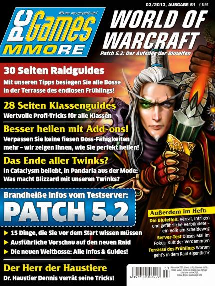 Mists of Pandaria: Patch 5.2 + 30 Seiten Raidguides + Twink-Special in der neuen PC Games MMORE 3/13
