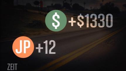 Schließt ihr Jobs oder Missionen in GTA 5 Online ab, erhaltet ihr Geld und Erfahrungspunkte.