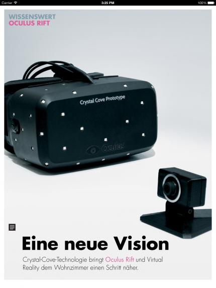 Die Virtual-Reality-Brille Oculus Rift