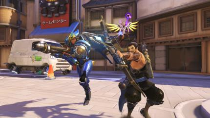 Overwatch: Pharah, Hanzo und Mercy.