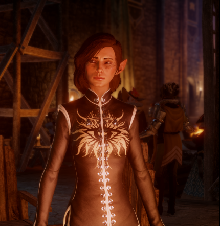 Skyhold Outfit Recolor BlackWhite