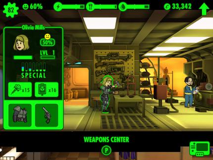 Fallout Shelter - Screenshots aus dem Vault-Manager (5)