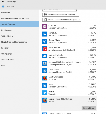 sicher formatieren windows 10