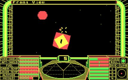 Als Elite 1984 erscheint, ist es seiner Zeit technisch und spielerisch voraus. Drei Jahre später folgt eine PC-Portierung.