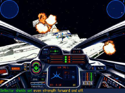 Die X-Wing- und die Wing-Commander-Serie verhelfen dem Genre der Weltraum-Flugsimulation in den 90er Jahren zu einer Blütezeit.