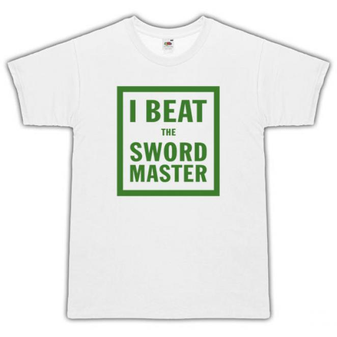 T-Shirt 'I beat the sword master'- Für alle Monkey-Island-Fans.