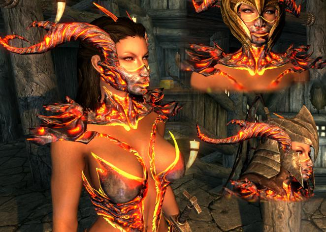 skyrimmods armee der finsternist sexy daedric armor