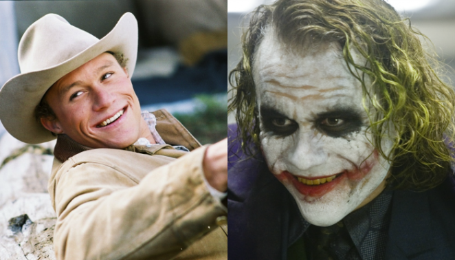 links: 'Brokeback Mountain' (2005), rechts: 'The Dark Knight' (2008)