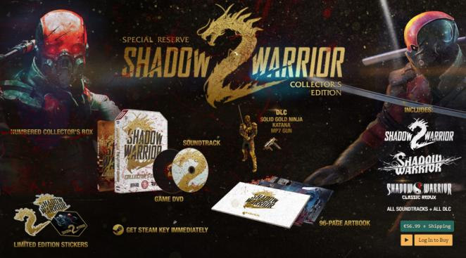 Die Inhalte der limitierten Collector's Edition zu Shadow Warrior 2.