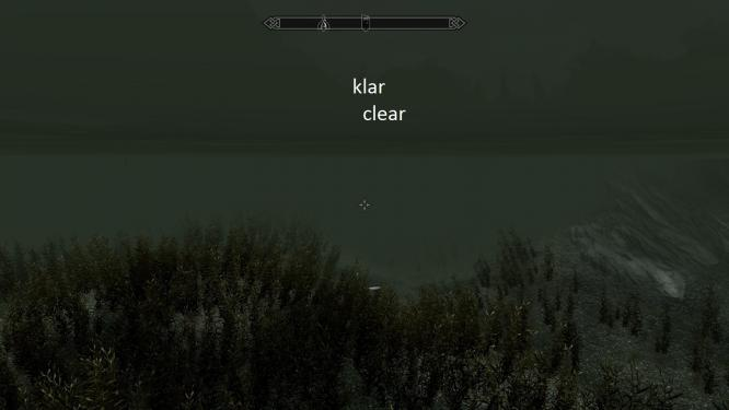 Skyrim-Mod: Better Underwater Sight - Clear
