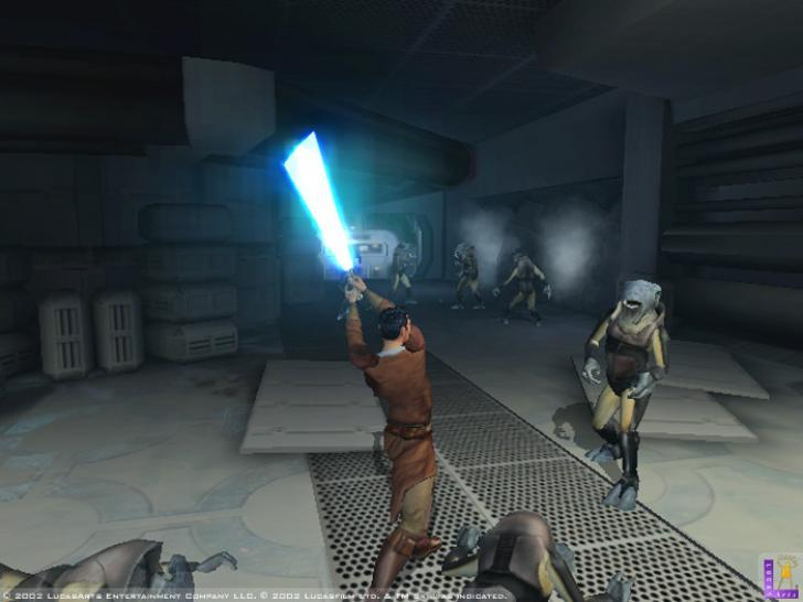 Lichtsäbelrasseln in Knights of the Old Republic.