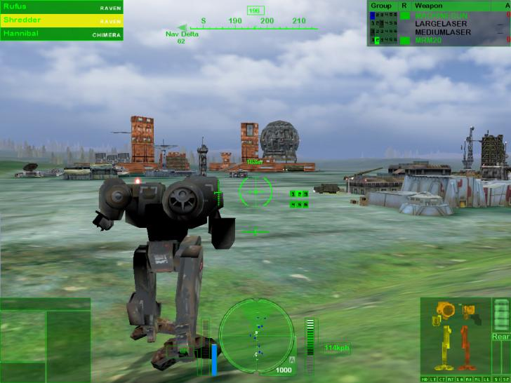 Screenshots aus MechWarrior 4.