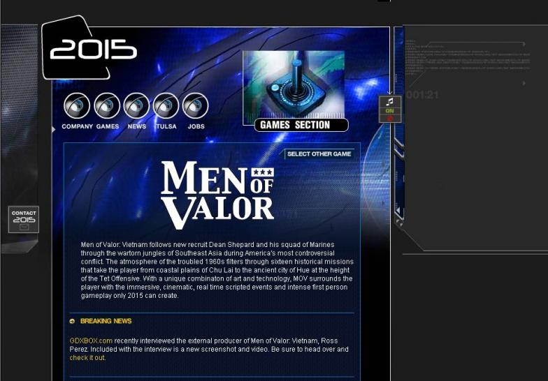 Die offizielle Men of Valor-Website.