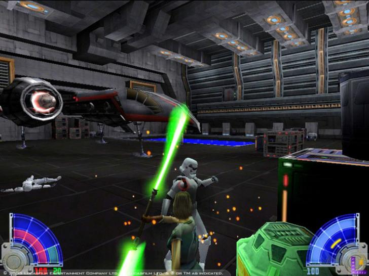 Screenshots aus Jedi Knight: Jedi Academy.