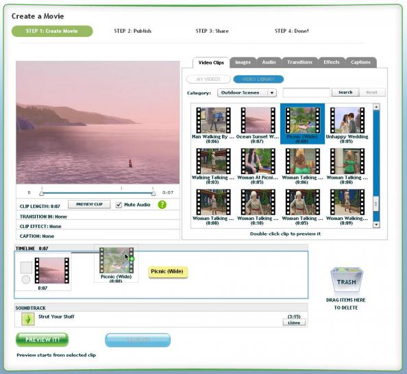 Screenshot zum Movie-Maker aus Die Sims 3.