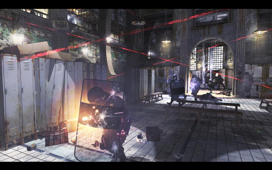 Schutzschild-Action: Screenshot aus Call of Duty: Modern Warfare 2.