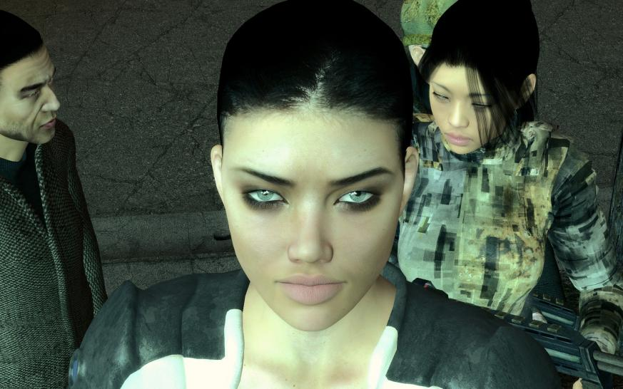 Alyx im Adriana-Lima-Style: Screenshot zur Cinematic-Mod-10.