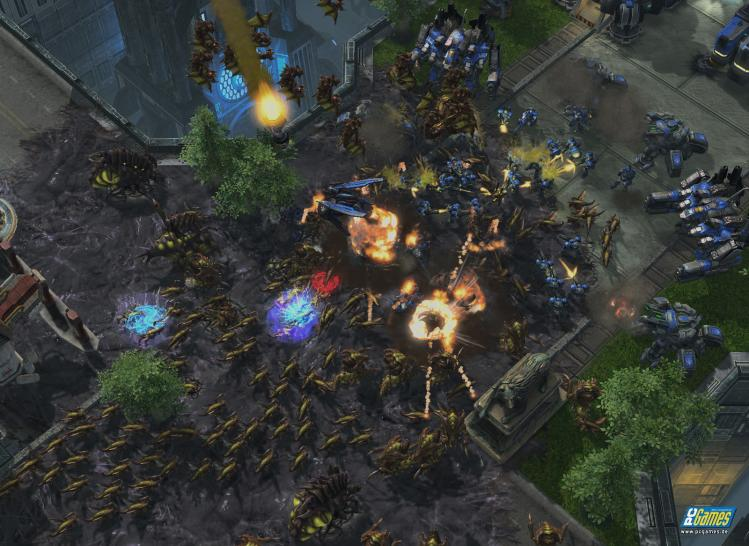 Screenshots aus Starcraft 2.