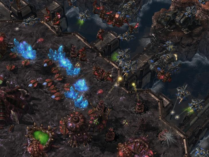 Screenshots zu Starcraft 2: Wings of Liberty.