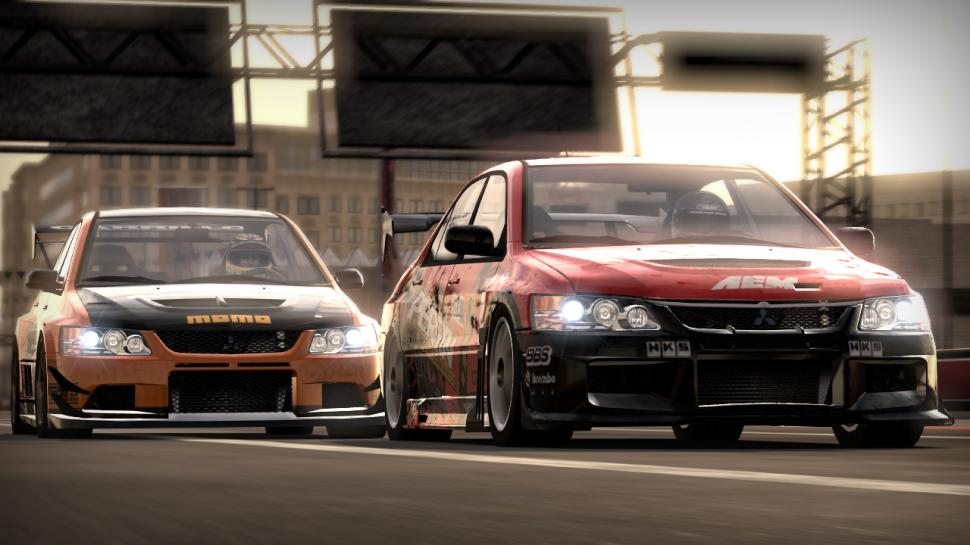 Der Mitsubishi Lancer Evo IX (HKS Evo CT230R) im neuen NfS: Shift-Screenshot.