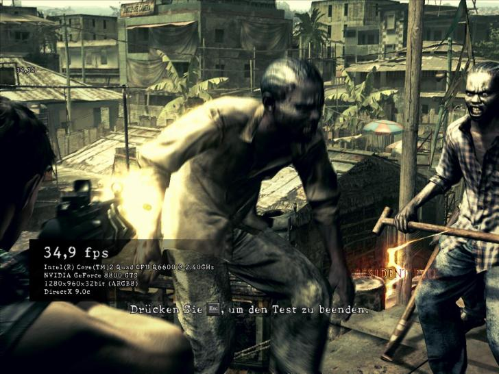 DX 9: Resident Evil 5-Screenshots aus der PC-Tech-Demo.
