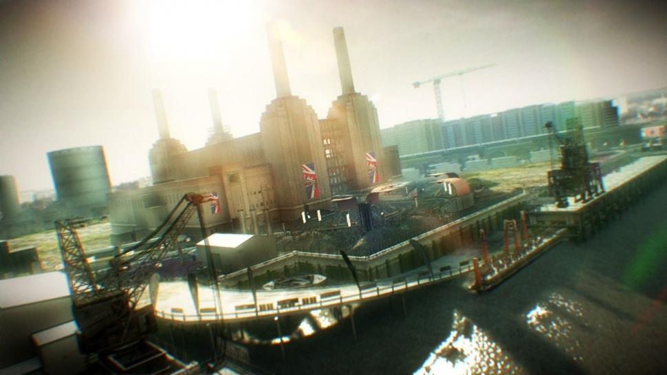 Hier zu sehen: Die Battersea Power Station in Colin McRae: Dirt 2.