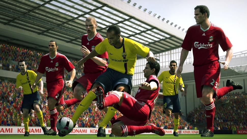 Screenshots aus PES 2010.