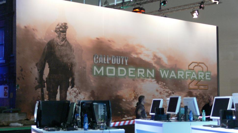 Messe-Impression am Modern Warfare 2-Stand - am ruhigen Vortag.