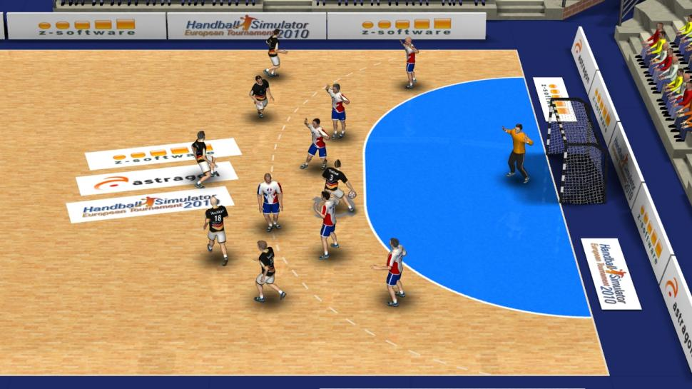 Screenshots aus Handball-Simulator 2010: European Tournament.